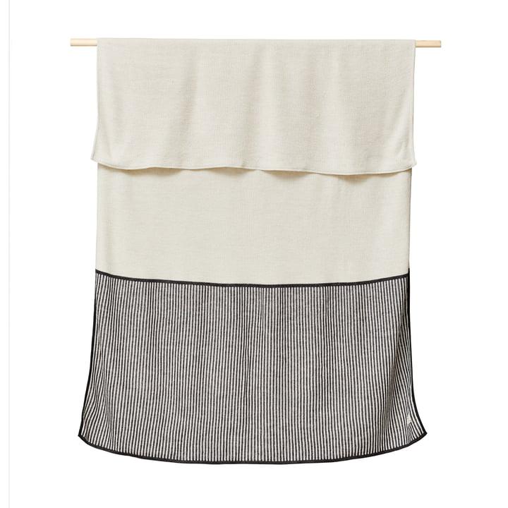 Aymara Couverture, 130 x 170 cm, crème de côtes de Form & Refine
