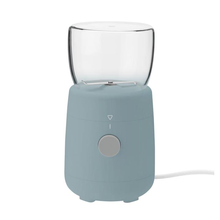 Le moulin à café électrique Foodie de Rig-Tig by Stelton bleu poussiéreux