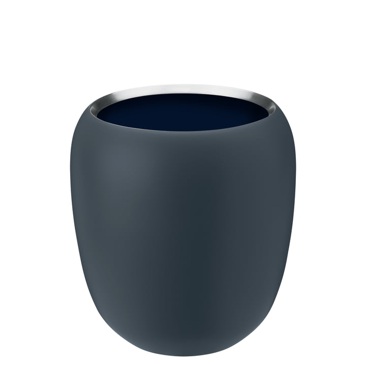 Le vase Ora petit de Stelton , dusty blue / midnight blue