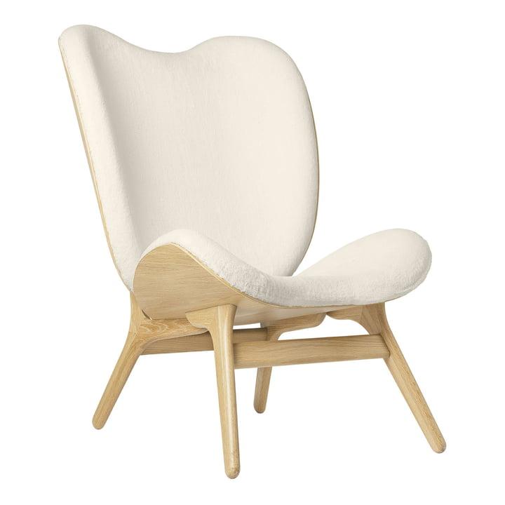 Le fauteuil A Conversation Piece Tall de Umage , chêne / teddy white