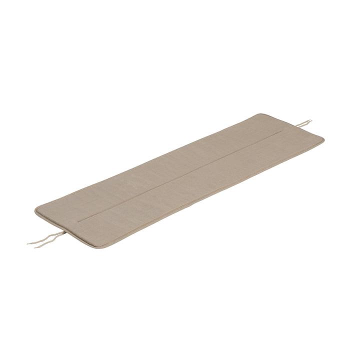Le coussin d'assise du banc Linear Steel de Muuto , L 110 cm, beige chaud