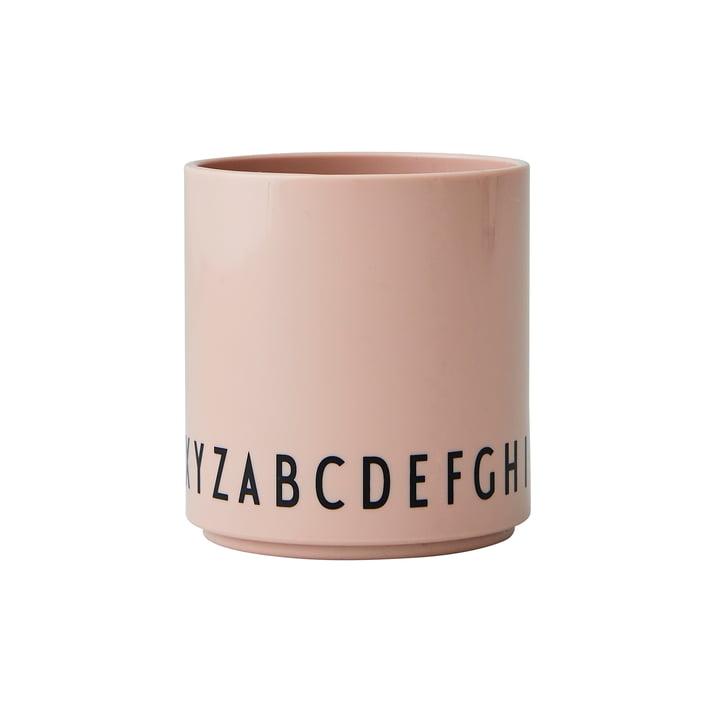Le Eat & Learn Tritan cup de Design Letters en nude