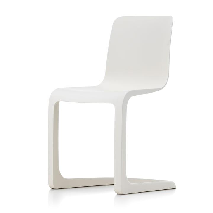 EVO-C Chaise tout plastique, ivoire de Vitra