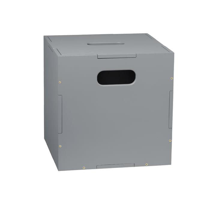 La boîte de stockage Cube avec roues de Nofred , gris