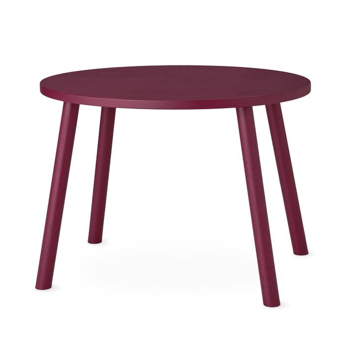 Mouse Table d'enfant ovale 64 x 46 cm de Nofred en bordeaux