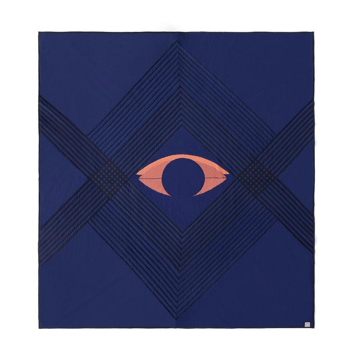 Le couvre-lit The Eye AP9 de & Tradition, 240 x 260 cm, blue midnight