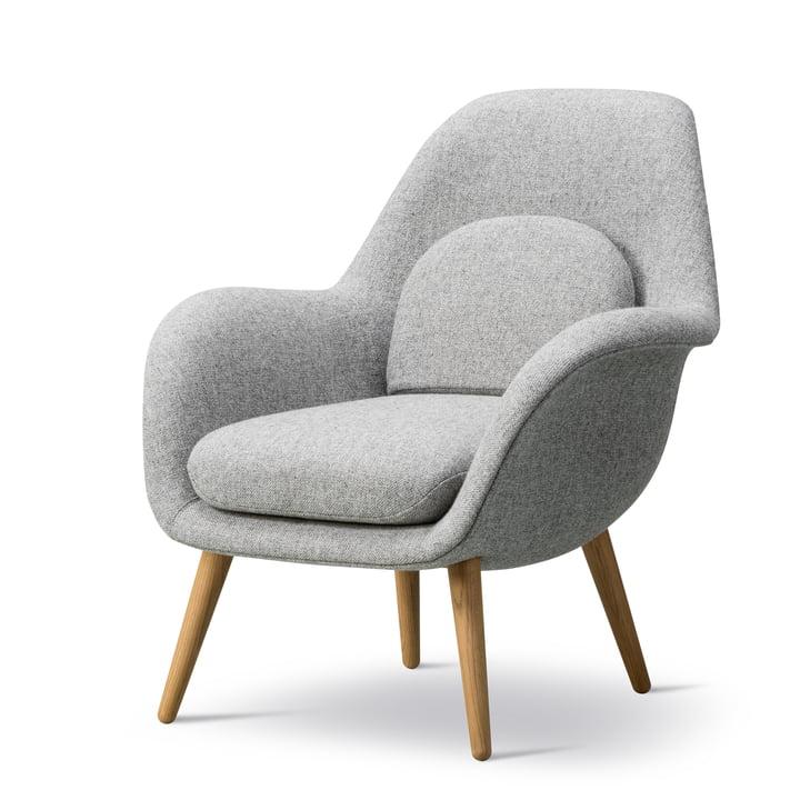 Swoon Lounge Fauteuil Petite de Fredericia en chêne huilé / Hallingdal 65 (130)