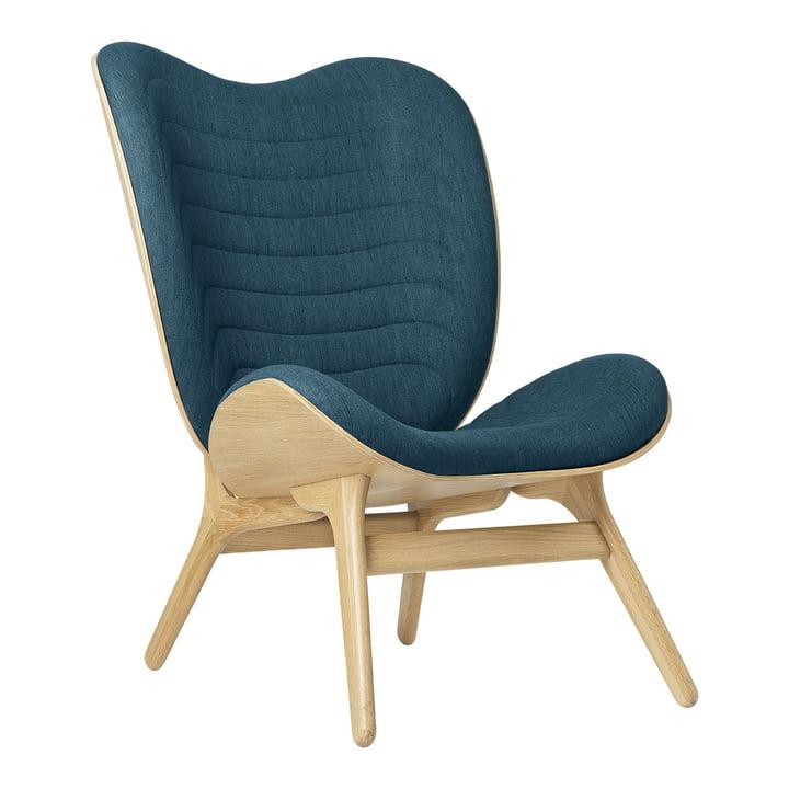 Le fauteuil A Conversation Piece Tall de Umage , chêne / petrol blue ( kingston )