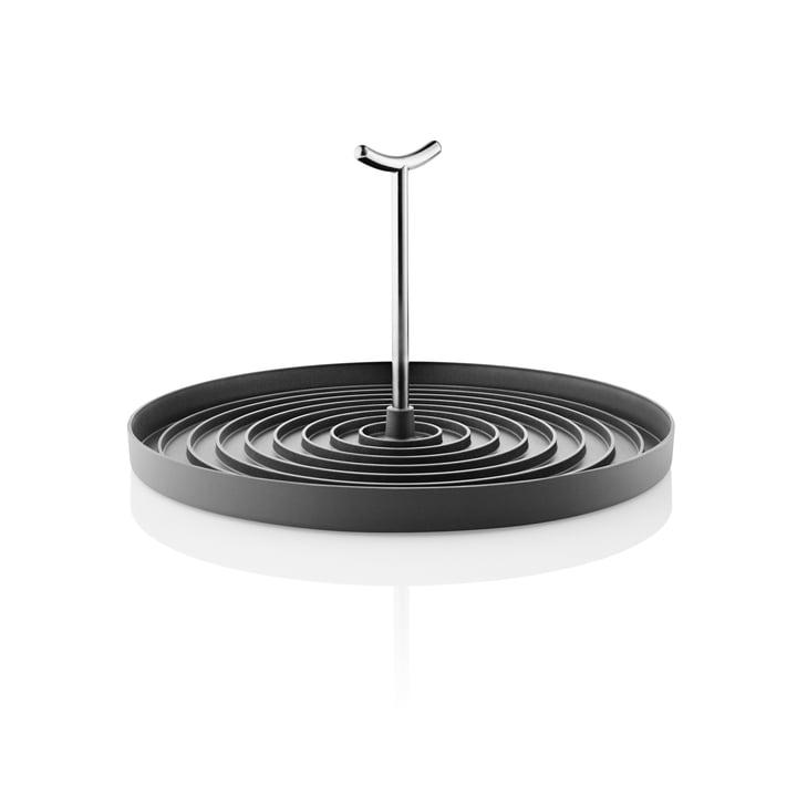 Égouttoir pliable, acier inoxydable / noir par Eva Solo