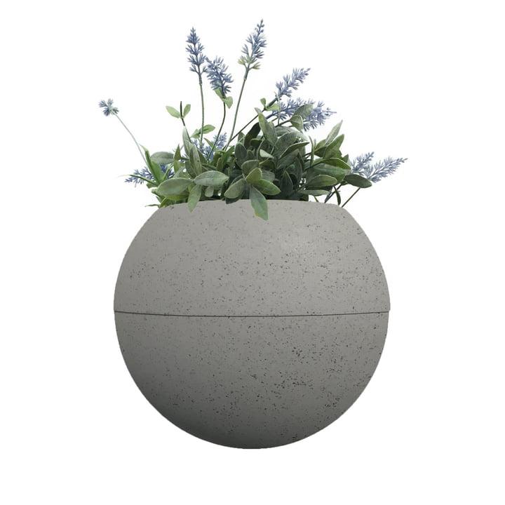 Le ballcony bloomball Pot de plante de rephorm , béton gris