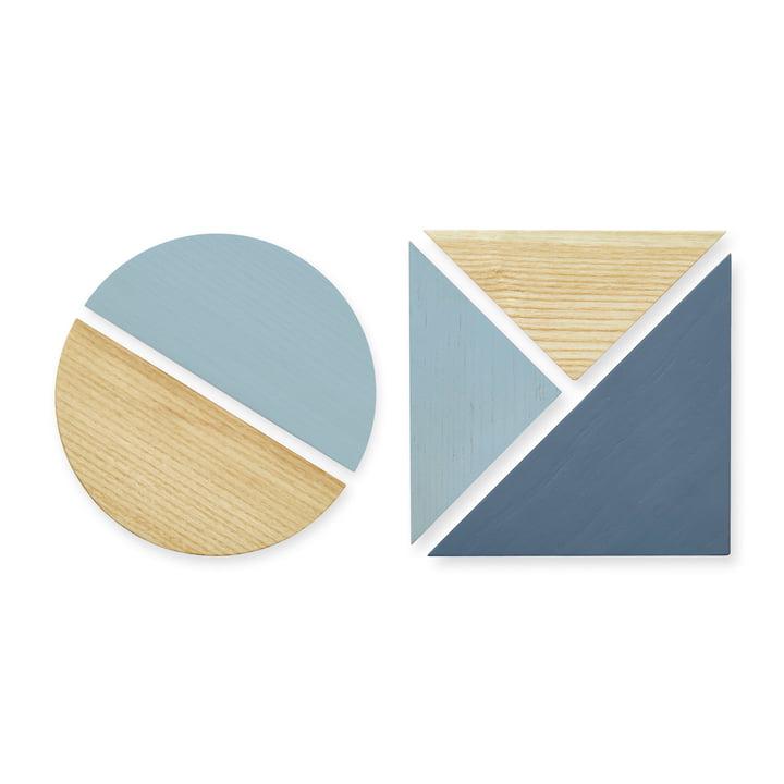 Les aimants pour tableau d'affichage de Nofred , bleu
