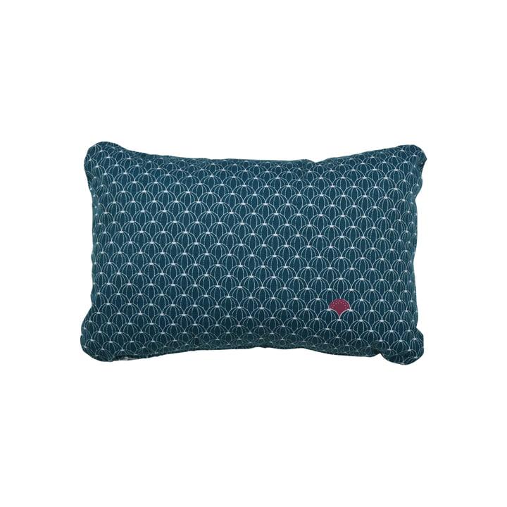 Fermob - Pasteque Coussin d'extérieur, 30 x 44 cm, bleu pétrole
