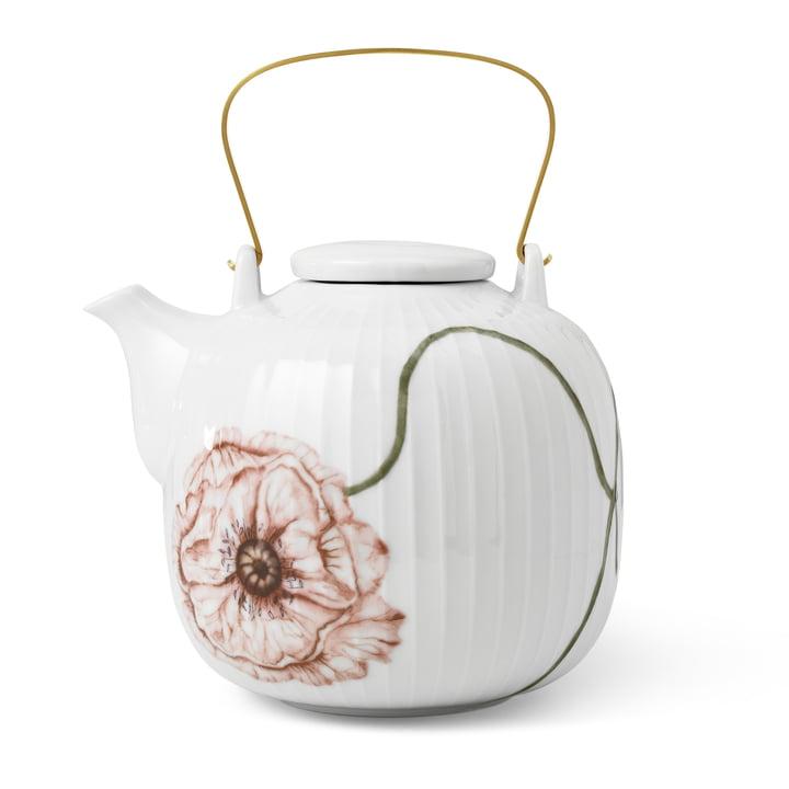 La théière Hammershøi Poppy de Kähler Design , 1,2 l, blanche