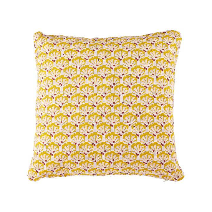 Le coussin d'extérieur Cocotiers de Fermob, 70 x 70 cm, miel