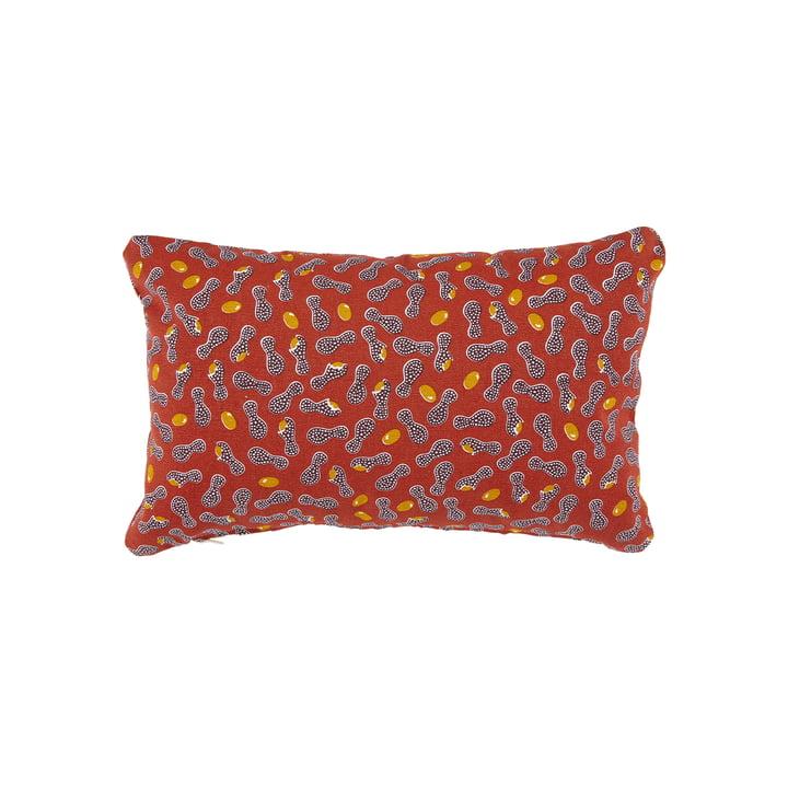 Le coussin d'extérieur Cacahuetes de Fermob, 30 x 44 cm, rouge ocre