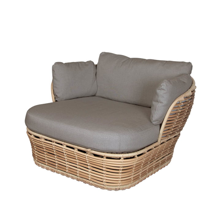 La chaise longue Basket Outdoor de Cane-line , naturel / taupe