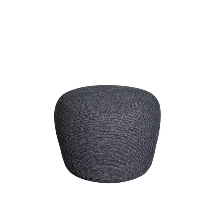 Le repose-pieds Circle Outdoor de Cane-line , Ø 52 cm, gris foncé