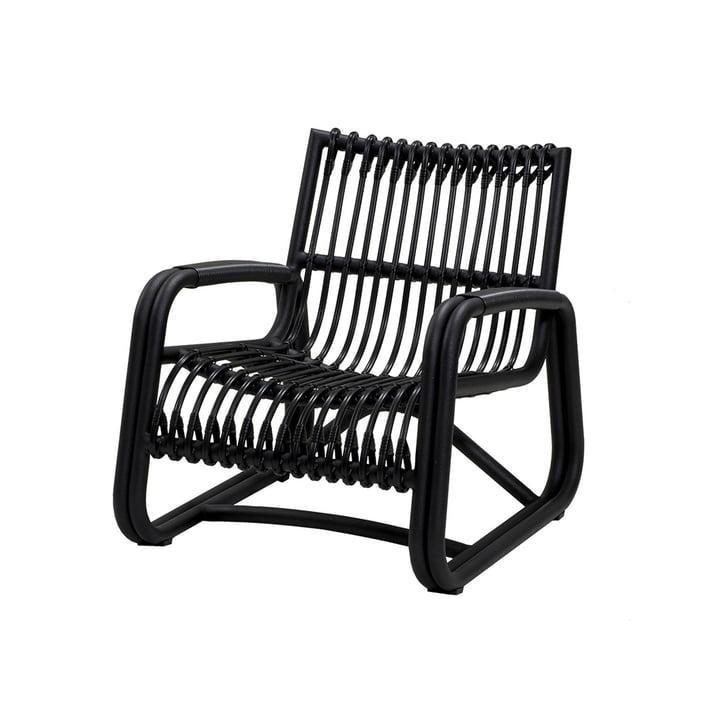 La chaise longue Curve Outdoor de Cane-line , lava grey
