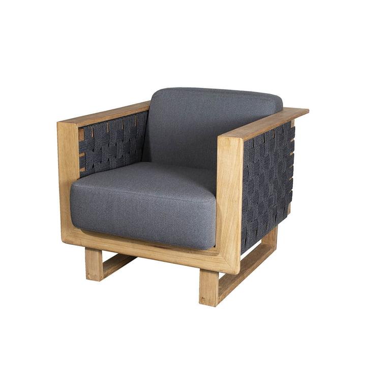Le fauteuil Angle Lounge Outdoor de Cane-line , gris foncé