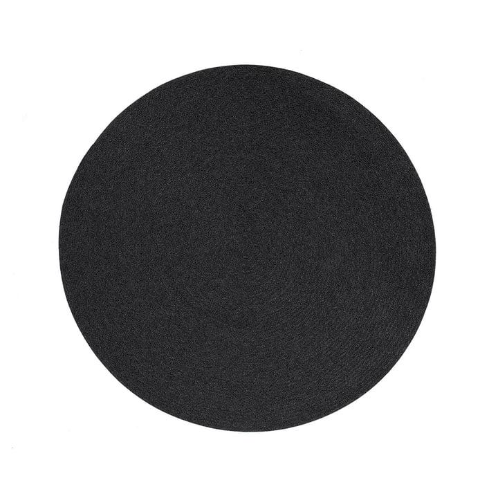 Le tapis Circle de Cane-line , Ø 140 cm, corde souple gris foncé