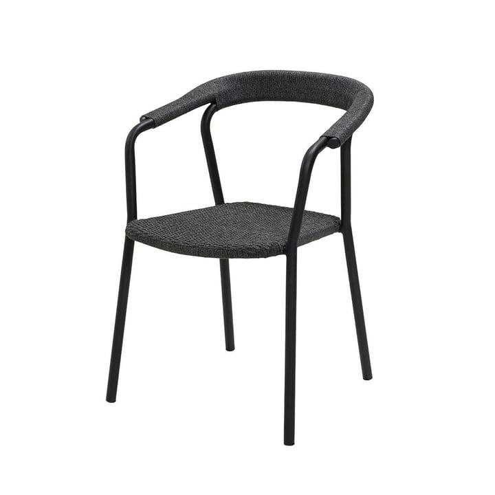 Le fauteuil Noble Outdoor de Cane-line , gris foncé