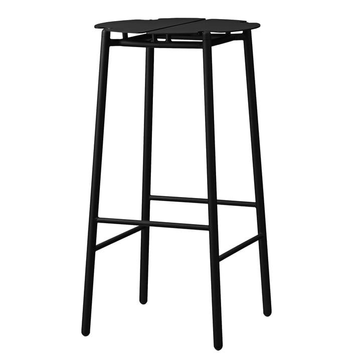 Le tabouret de bar Novo de AYTM , H 75 cm, noir