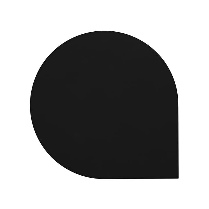 Le set de table Stilla de AYTM , L 40 x l 40 cm, noir (lot de 2)