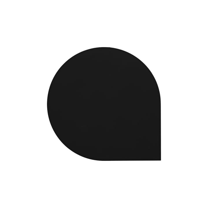 Le sous-verre Stilla de AYTM , L 10 x l 10 cm, noir (lot de 4)