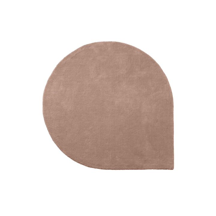 Le tapis Stilla de AYTM , 130 x 160 cm, rose
