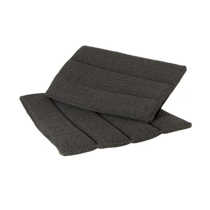 Les coussins d'assise et de dossier de la chaise pliante Flip Outdoor de Cane-line , gris foncé
