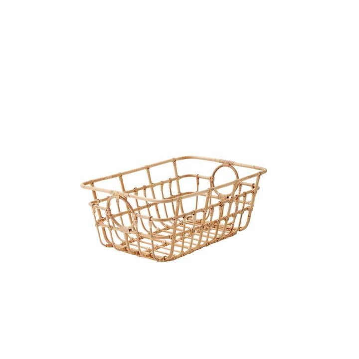 Le panier Carry Me de Cane-line , bas, 65 x 45 cm, naturel