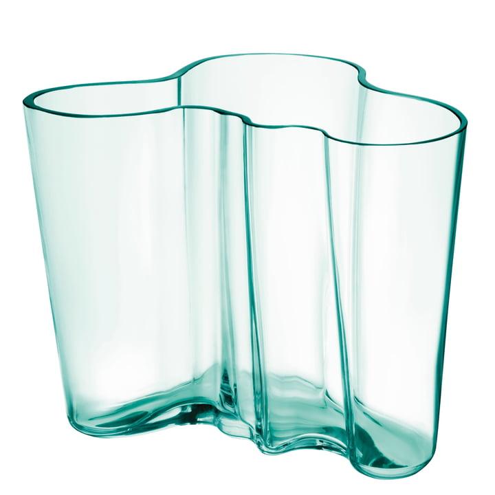 Vase Aalto Savoy 160 mm de Iittala en vert d'eau (édition anniversaire 2021)
