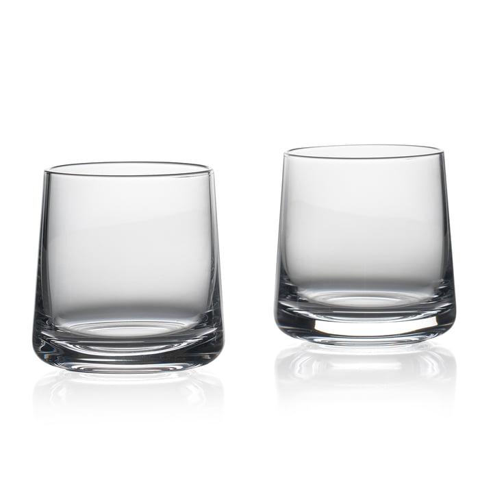 Les verres à boire Rocks de Zone Denmark , H 8 cm, transparent (jeu de 2)