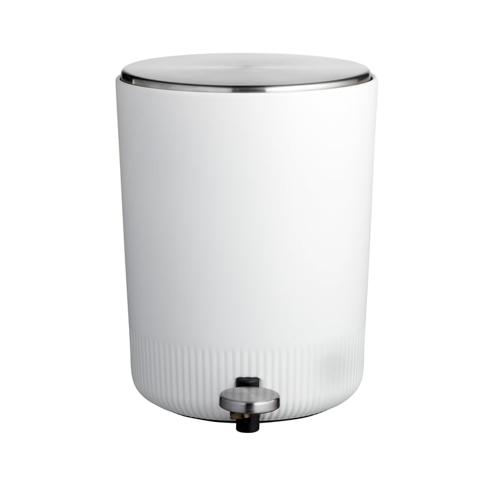 La poubelle à pédale Plissé de Södahl , 5 L, blanc