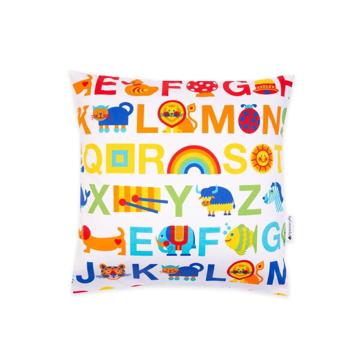 La taie d'oreiller ABC Rainbow de byGraziela , 40 x 40 cm, multicolore