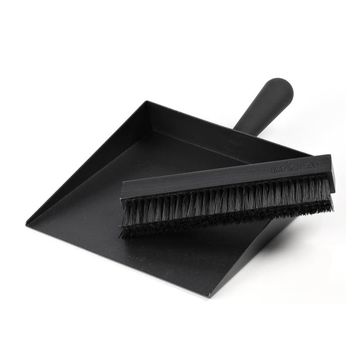 Pelle à poussière & Balai de Morsø en noir