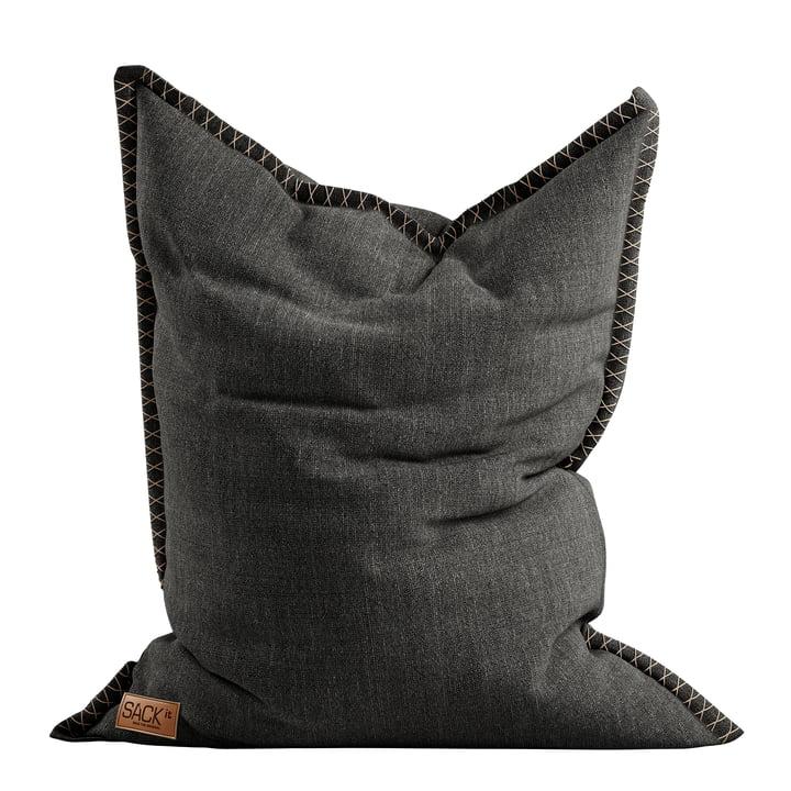 Le pouf de SQUARE it Cobana Outdoor de SACK it, gris