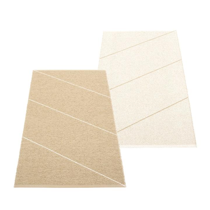 Le tapis réversible Randy de Pappelina , 70 x 135 cm, sand / vanilla
