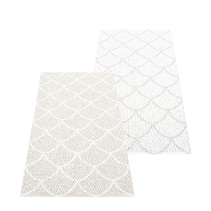 Le tapis réversible Kotte de Pappelina , 70 x 150 cm, fossil grey / blanc