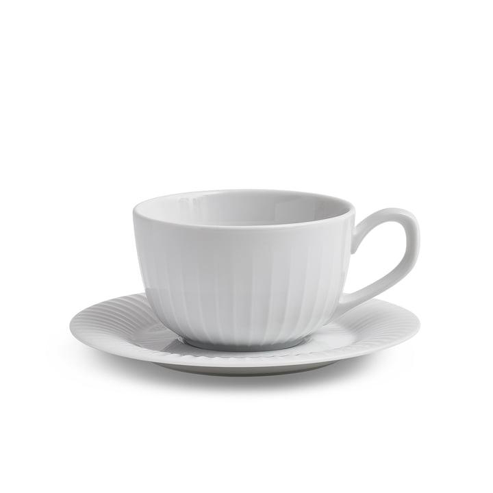 Hammershøi Tasse à café avec soucoupe 25 cl de Kähler Design en blanc