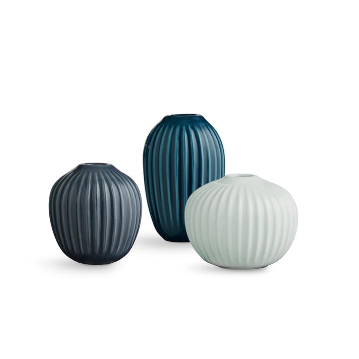 Hammershøi Vase miniature de Kähler Design en vert (lot de 3)