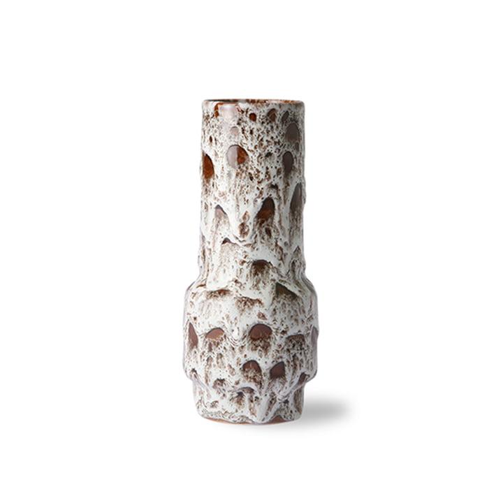 Le vase en céramique Retro de HKliving , blanc lave