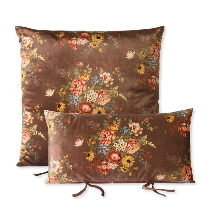 L'ensemble de coussins pour canapé Lounge de HKliving , floral / brun