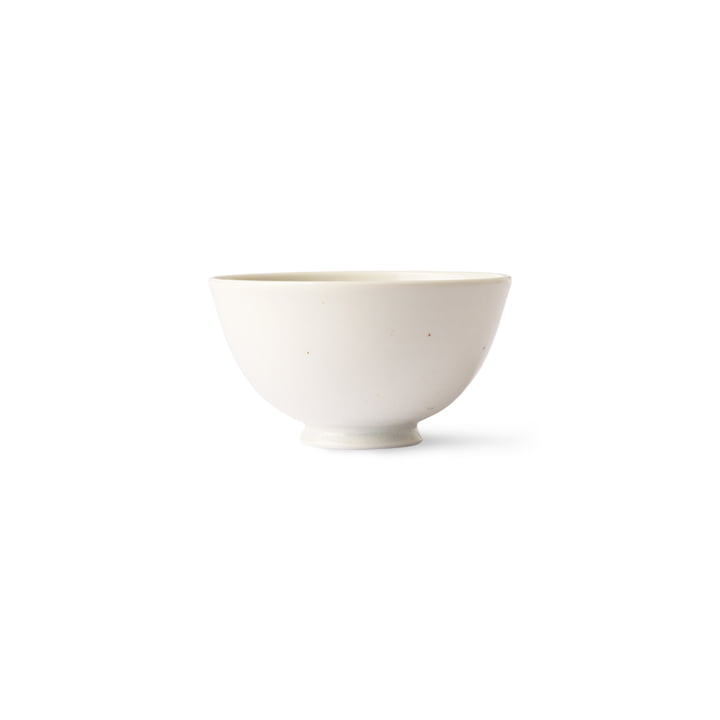 HKliving - Kyoto Bol à riz, Ø 11,3 cm, blanc moucheté