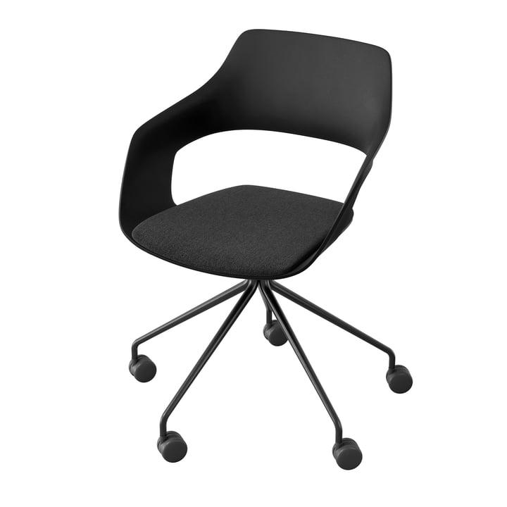 Le fauteuil pivotant Occo 222/41 de Wilkhahn , noir