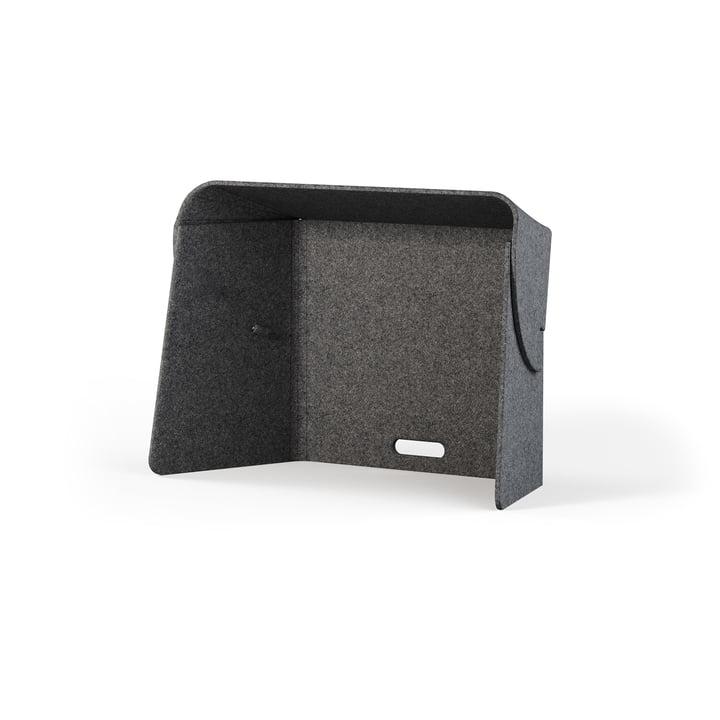 Le séparateur de pièce Fold-Up Workspace de Wilkhahn , gris (L = 76 cm)