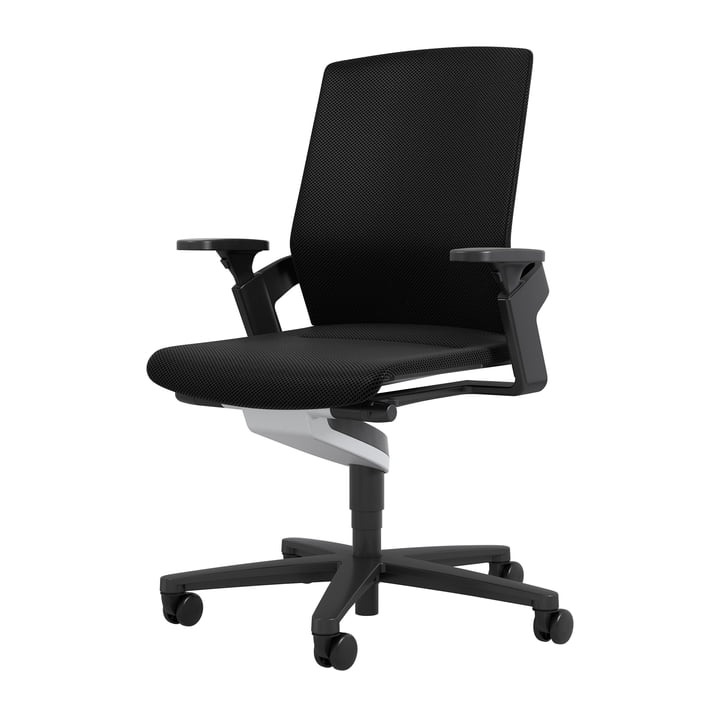 Le fauteuil pivotant de bureau 174/7 ON de Wilkhahn , noir