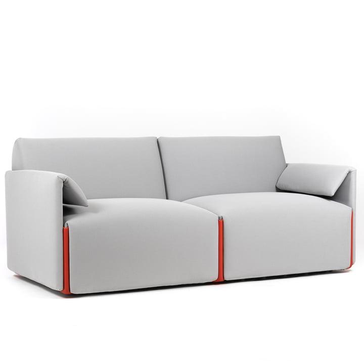 Costume canapé 2 places, composition B avec accoudoirs, Fidivi One 8504 / orange 1110C by Magis