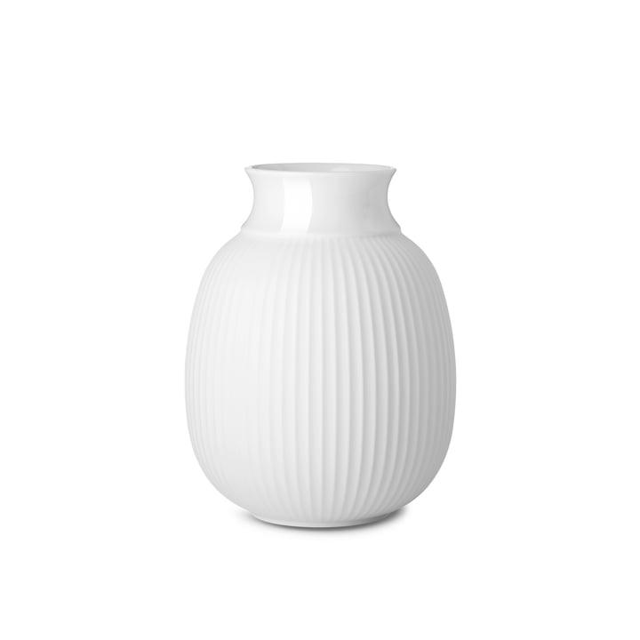 Curve Vase H 12,5 cm de Lyngby Porcelæn en blanc
