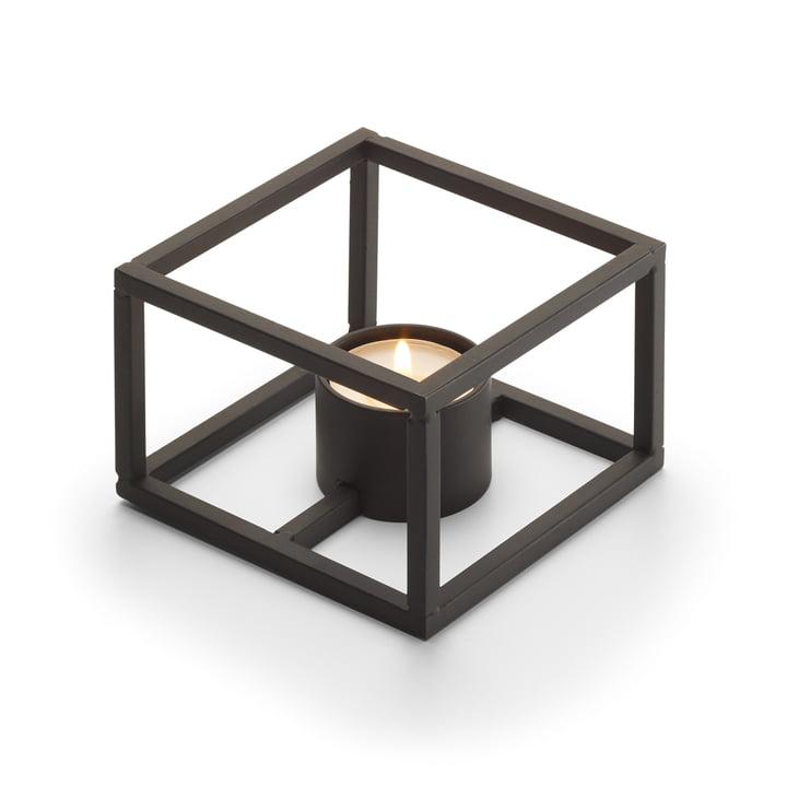 Cubo Porte-bougie pour 1 bougie à réchaud 10 x 10 cm de Philippi en noir